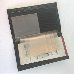 Men's VTG Black Leather wallet organizer bifold NU